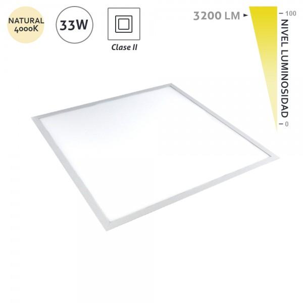 Panel Led cuadrado de empotrar 595x595 CLD 4000K 33W 3200Lm