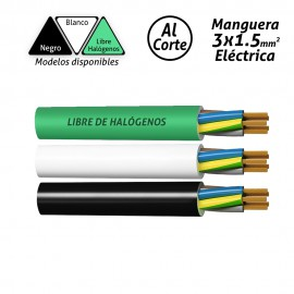 Manguera eléctrica 3x1.5mm2