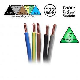 Cable flexible de 1.5mm2 Libre de Halógenos H07Z1-K 100mts