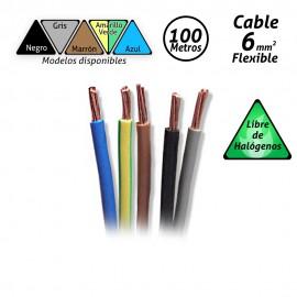 Cable flexible de 6mm2 Libre de Halógenos H07Z1-K 100mts