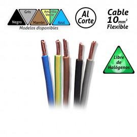 Cable flexible de 10mm2 Libre de Halógenos H07Z1-K (por metro).