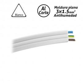 Moldura plana cableada antihumedad 3x1.5mm2