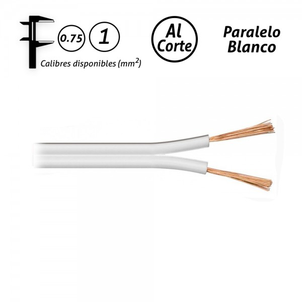 Cable paralelo blanco audio