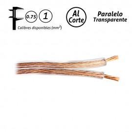 Cable paralelo transparente audio