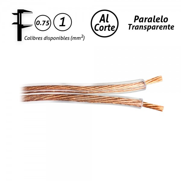 Cable paralelo transparente audio
