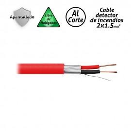 Cable para detector de incendios 2x1.5mm2 apantallado