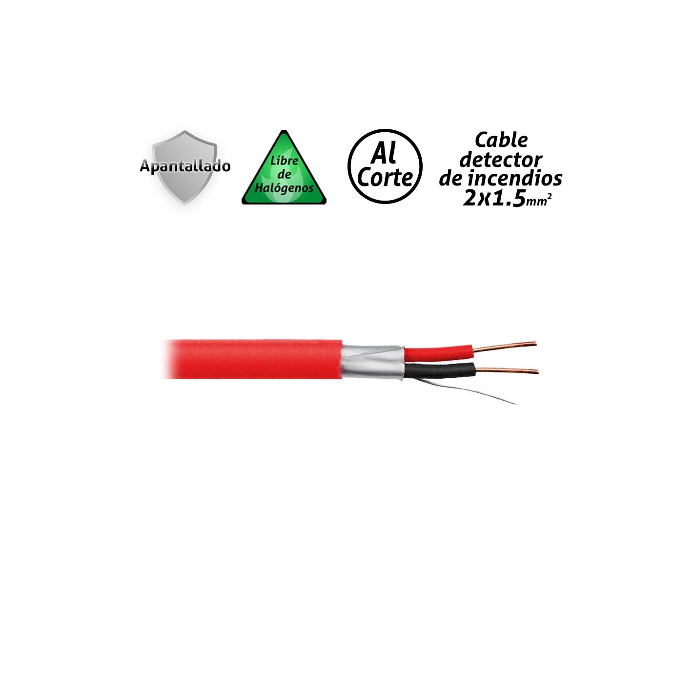 Cable para detector de incendios apantallado - Detector cables pared ...