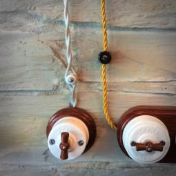 Cable textil trenzado 2x1,5 marrón