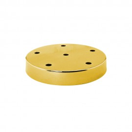 Florón metálico vintage dorado 6 agujeros