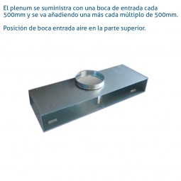 Plenum difusor lineal 2 Vias