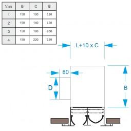 Plenum con difusor lineal de 4 Vias