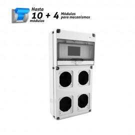 Caja estanca para automáticos y mecanismos 10 + 4 módulos