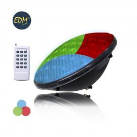 Bombilla Led Piscina PAR56 21W 12V RGB con mando a distancia