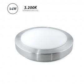 Downlight superficie redondo LED gris 14W 3200K