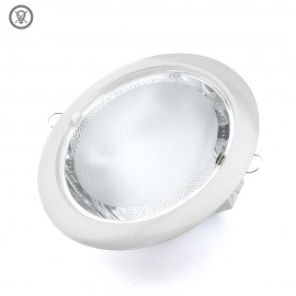 Downlight serie Perla blanco 2xE27