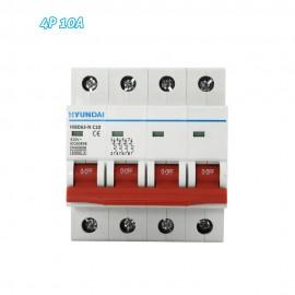 Interruptor automático magnetotérmico 4P 10A HYUNDAI