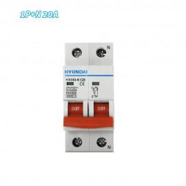 Interruptor automático magnetotérmico 1P+N 20A HYUNDAI