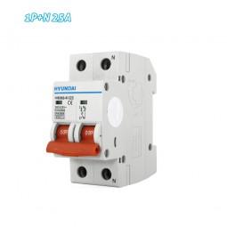 Interruptor automático magnetotérmico 1P+N 25A HYUNDAI