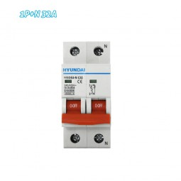 Interruptor automático magnetotérmico 1P+N 32A HYUNDAI