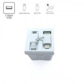 Cargador USB universal WMC para pared
