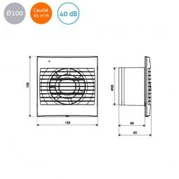 Extractor de baño S&P Decor-100 C