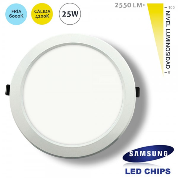 Downlight Redondo 25W LED Samsung SMD5630 Blanco