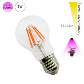 Bombilla de crecimiento LED para cultivo de interior E27 8W