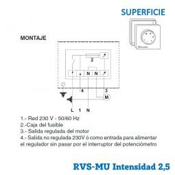 Regulador de velocidad RVS-MU-2,5 Superficie
