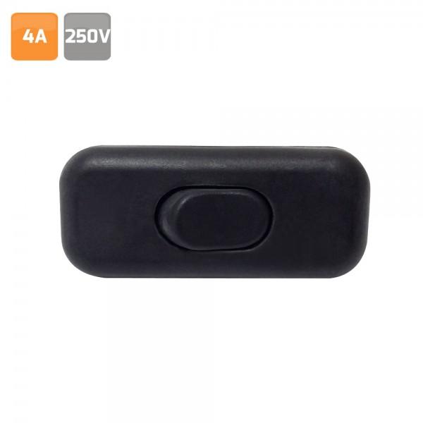 Interruptor de paso, 4A. 250V negro