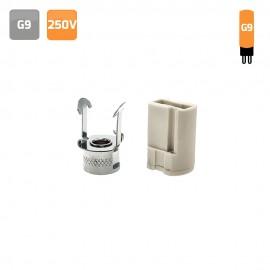 Portalámparas G9 con pinza metálica 2A 250V