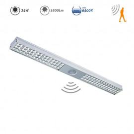 Regleta LED Sócrates níquel con sensor de movimiento 24W