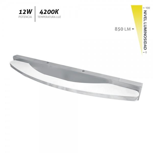Aplique LED de pared cromo Vali 12W 850Lm