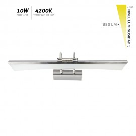 Aplique LED de pared cromo Bor 10W 850Lm