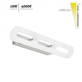 Aplique LED de pared blanco cromado Coliseo 21W 1680Lm