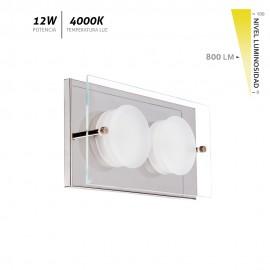 Plafón LED cristal cromo Antioquia 12W 800Lm