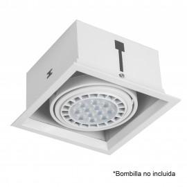 FOCO KARDAN EMPOTRAR BLANCO 1 LAMPARA