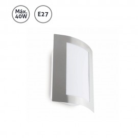 Aplique de pared exterior acero Maya 40W E27