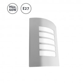 Aplique de pared exterior lineal acero inoxidable 60WE27