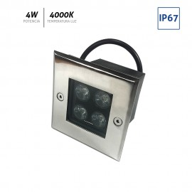 Baliza LED cuadrada 4x1W IP67