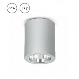 Foco de superficie plata serie Pote 60W E27