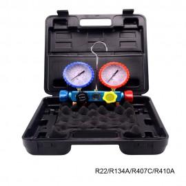 Analizador 4 valvulas analogico manometros diam. 80
