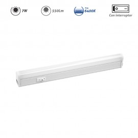 Regleta LED electrónica con interruptor 7W 550Lm