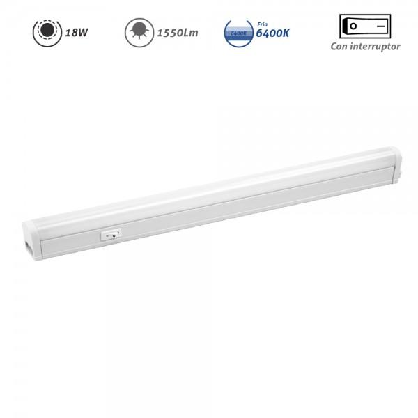 Regleta LED electrónica con interruptor 18W 1550Lm
