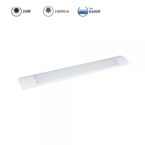 Regleta LED electrónica 20W 1900Lm 6400K