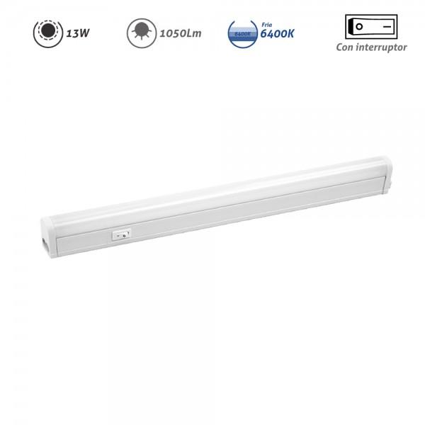Regleta LED electrónica con interruptor 13W 1050Lm 6400K