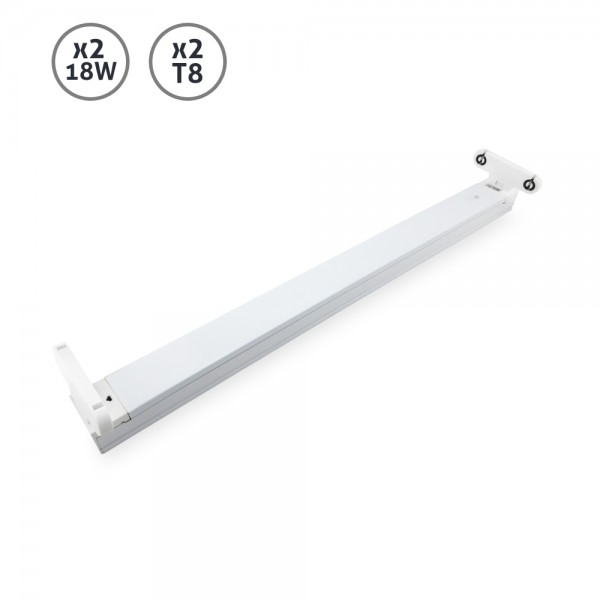 Regleta Argos T8 2x18W LED