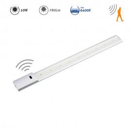 Regleta LED con sensor de movimiento 10W 780Lm 6400K