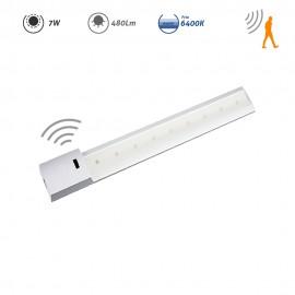 Regleta LED con sensor de movimiento 7W 480Lm 6400K
