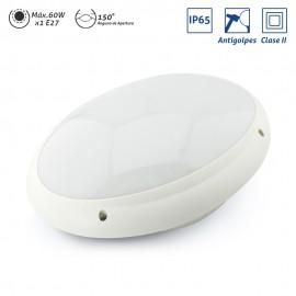 Plafón exterior ovalado IP65 Clase II antivandálico