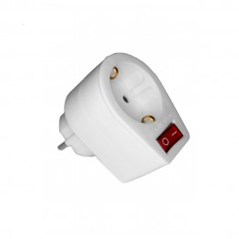 Base enchufe con interruptor luminoso schuko